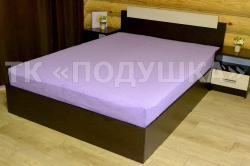 Купить фиолетовую махровую простынь на резинке в Кирове