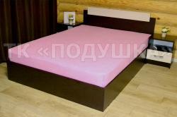 Купить розовую махровую простынь на резинке в Кирове